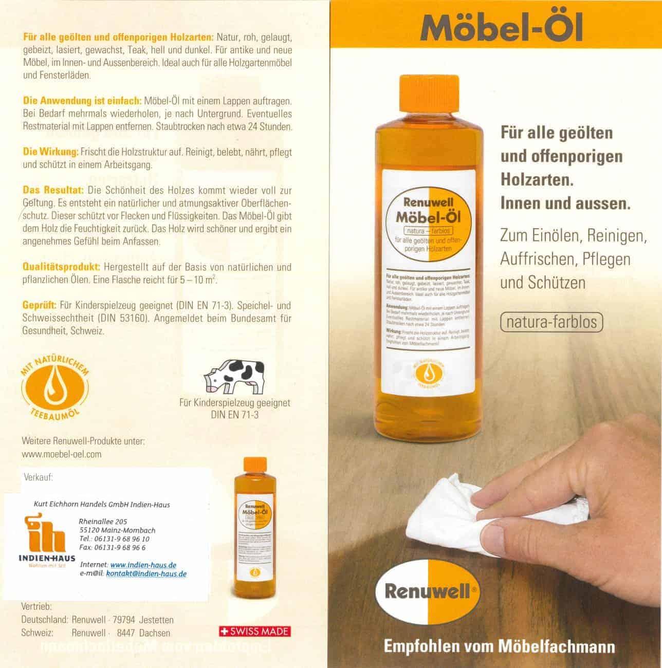 Renuwell Möbel-Öl - #Indien-Haus
