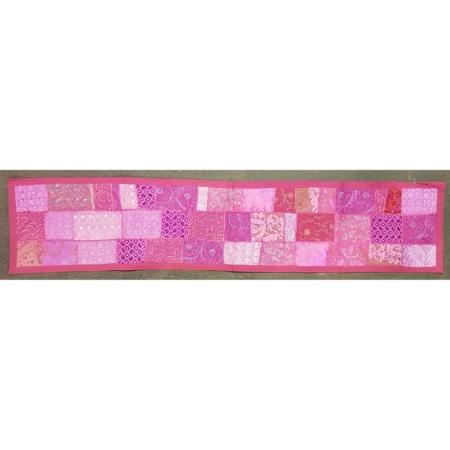 Brokat Tischläufer in rosa-pink